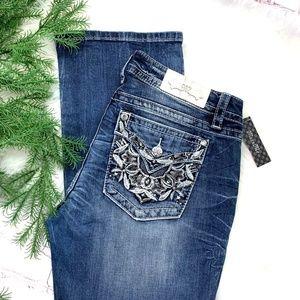 👖I•MISS ME•I Signature Slim Boot Jeans 32x33.5👖